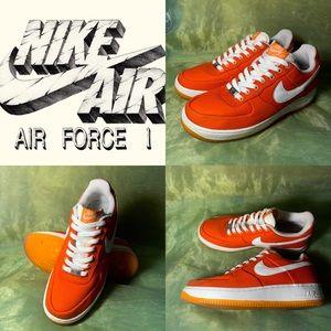 Nike Air Force 1 Low Canvas Orange Peel Shoes